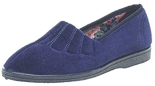 Sleepers Ls722 - Zapatillas de Estar por casa de Material Sintético para Mujer Azul Azul Marino