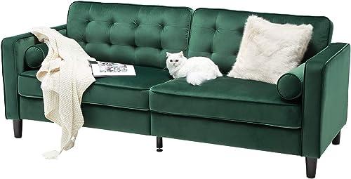 Deal of the week: Esright 84.2″ Green Velvet Couch Mid Century Modern Sofa,Tufted Velvet Fabric Sofa