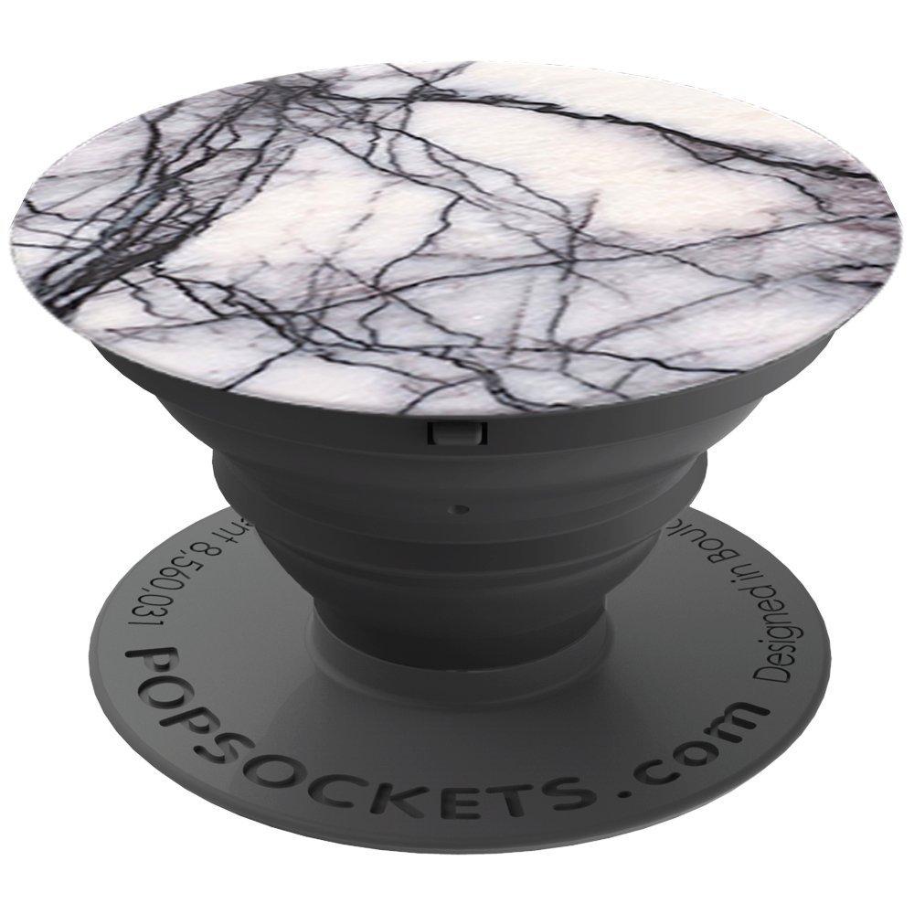 PopSockets PS Soporte telescópico para Smartphones y tabletas Estilo White Marble