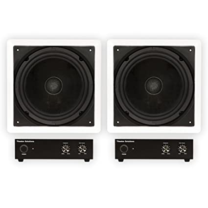 Theater Solutions TS1000 Passive 10quot Home In Wall 2 Subwoofers And Amps Set
