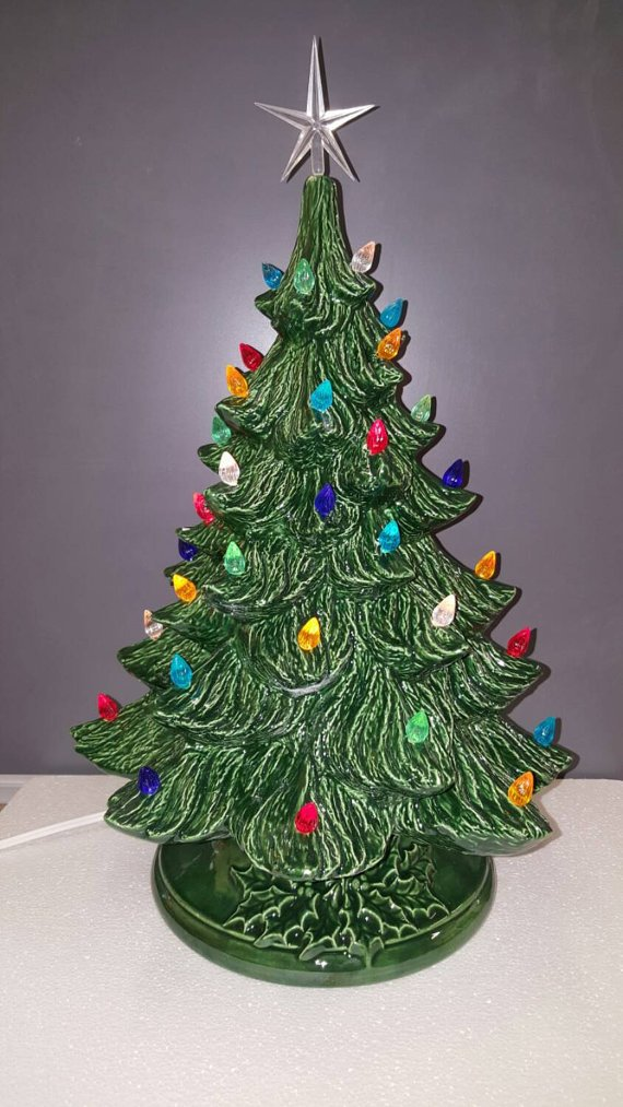 Amazon Com Vintage Style Ceramic Christmas Tree Large Ceramic