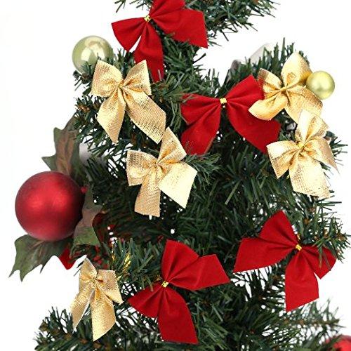 YYaaloa 36pcs Christmas Tree Bowknot Christmas Tree/wedding/party Decoration Bow Bowknot Party Gift DIY Decor Xmas Tree Ornament (3color,36pcs)