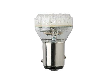 Lámpara Leds 112V 21W Ba15S 1 Polo Blanca. Par: Amazon.es: Coche y ...