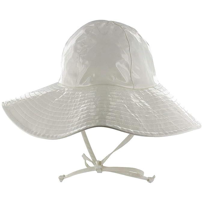 Cappello Antipioggia Floppy McBURN cappello laccato sottogola One Size -  bianco 7d13790a0a36