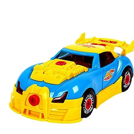 YeahiBaby Montar Toy Car con Taladro eléctrico Herramientas Educación Carreras de Coches para niños Juguetes educativos
