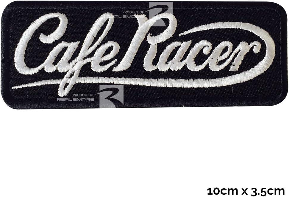 Real Empire Cafe Racer - Parches para coser o planchar, Black(10x3.5cm)