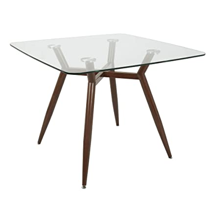 Amazon Com Lumisource Mid Century Modern Square Dining Table With