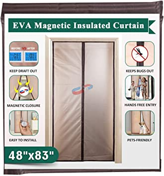Magnetic Insulated Door Curtain Thermal Screen Door For Air Conditioner Room Kitchen Enjoy Your Cool Summer