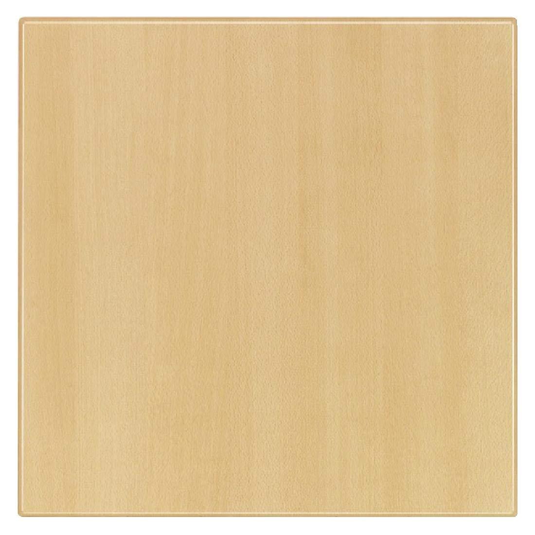 Werzalit plus u595cuadrado tablero de la mesa, 700mm x 700mm x 30mm Dimensión, madera de haya Planked