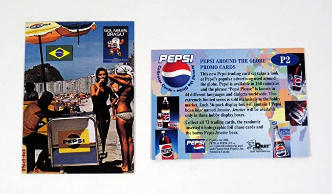 Pepsi Around the Globe Trading Cards Full 72 Card Base Set from Dart Flipcards