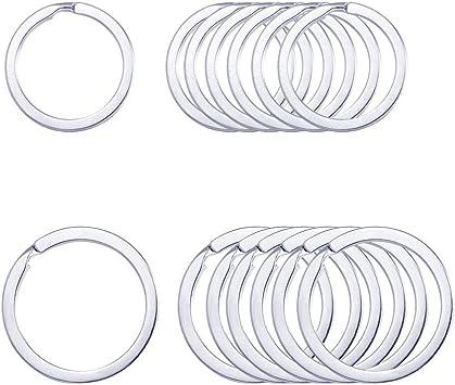 Flat key ring,Light gold Key Rings,round key fobs,key ring split ring metal key ring,Keychain Split Jump ring,Crafts Supplies-1/'/',1 12/'/'