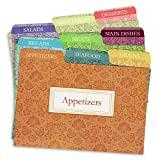 6 x4 recipe cards - Cookbook People Recipe Card Dividers for 4x6 Recipe Box Tabbed Organizers (Agatha)