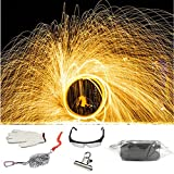 ZRUI Steel Wool Fireworks Photography Backdrop Background for Light Painting Graffiti Long-Exposure Set on Tik Tok (1pcs Steel Wool Set)