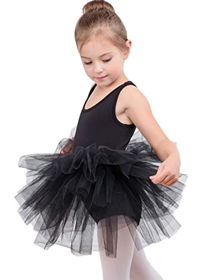 6142b784c Amazon.com   DHASIUE Girls Tutu Dress Toddler Cute Leotard with Tutu ...