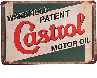 Wall Decor for Home Garage Bar Man Cave Tin Sign 8x12 Castrol Motor Oil