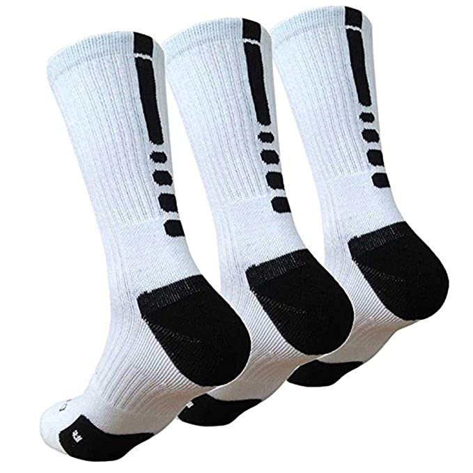 02a145ec2a8 Image Unavailable. Image not available for. Color: Redsun Men's Basketball  Socks Youth Cushioned Dri-Fit Athletic Sports Mid ...