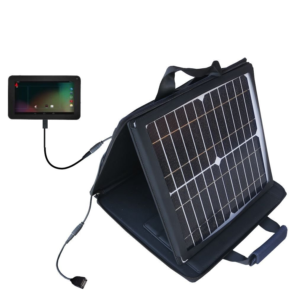 RCA RCT6272W23 compatible SunVolt Portable High Power Solar Charger by Gomadic - Outlet- speed charge for multiple gadgets