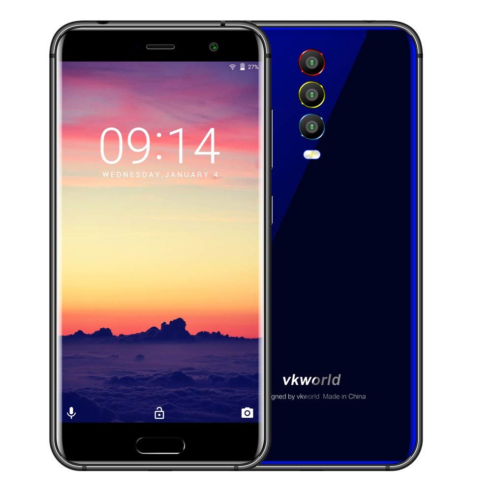 5.2inch VKWorld K1 Android 8.1 21.0MP Octa core Dual SIM 4GB+64GB Smartphone GPS-SUNSEE (Blue)