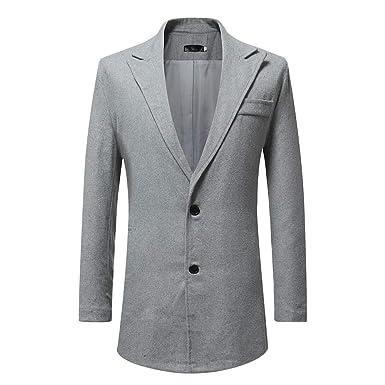 Uomo Homebaby Elegante Giacca Blazer da Uomo Completo Felpa
