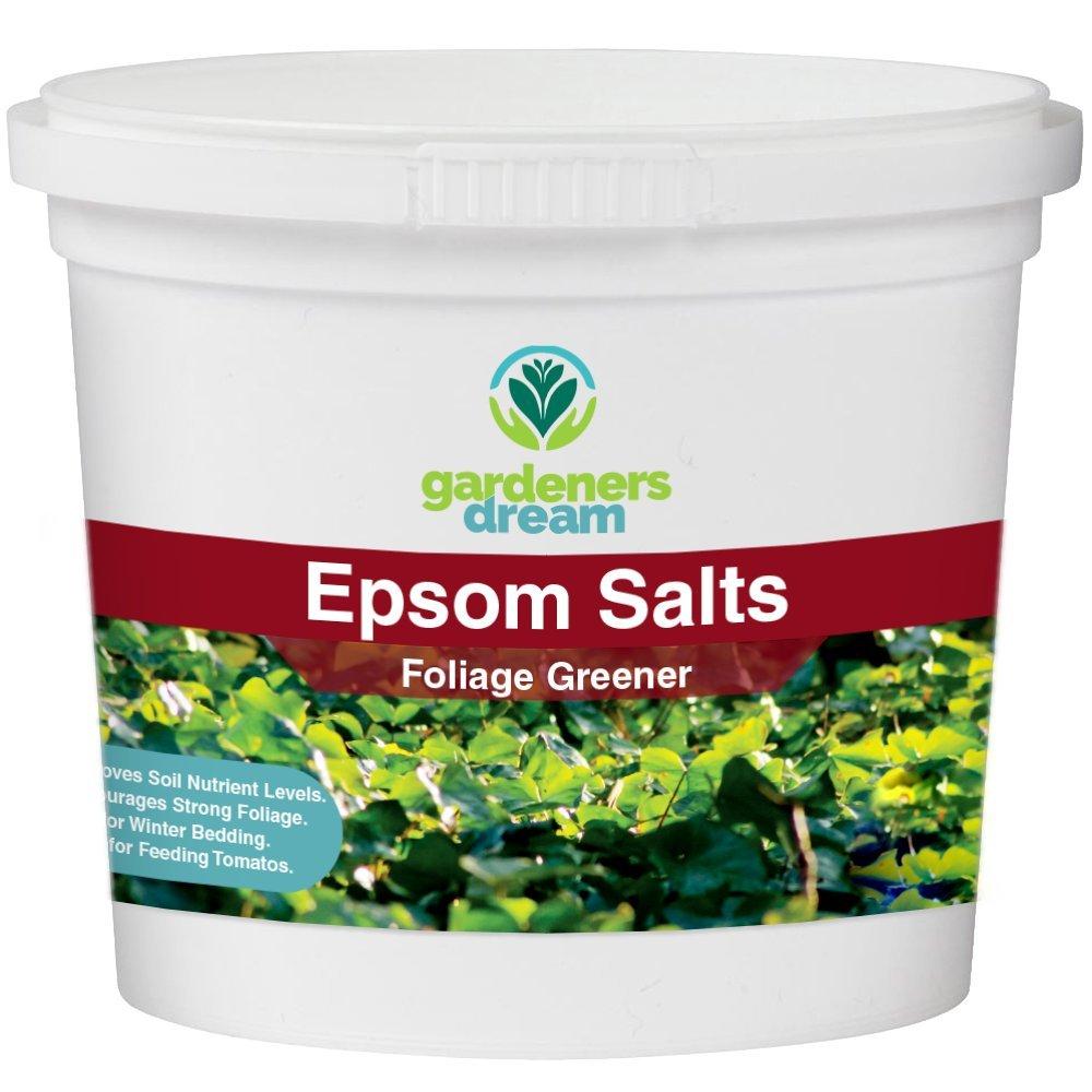 Gardenersdream Epsom Salts Foliage Greener Plant Food Garden Grmepsom Fertiliser Multi Purpose Organic Dirt Mulch 1kg Outdoors