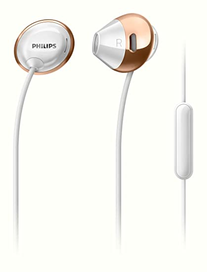 Philips SHE4205WT/00 Headphones with Mic  White  In Ear