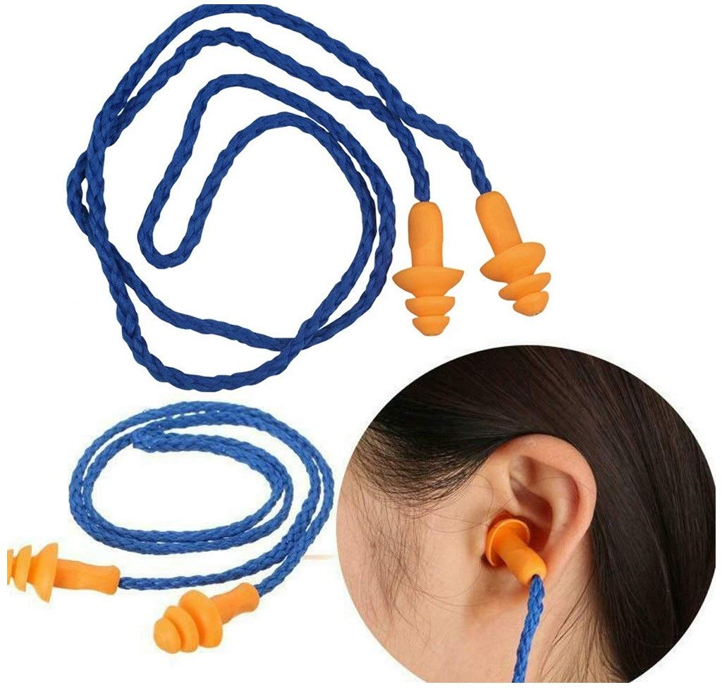 1 Pair Soft Silicon Ear Plugs Hearing Protection Noise Filtering Earplugs Study