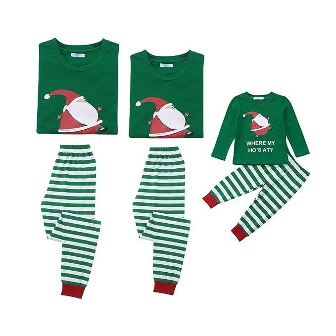 Amazon.com: Conjunto de pajamas de Navidad a juego con la ...