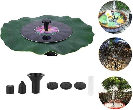 Cafopgrill Fuente de energía Solar 7V 1.4W Motor sin escobillas Bomba de Agua Jardín Estanque Decoración de Piscina para jardín de Piscina: Amazon.es: Jardín