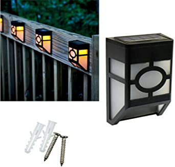 YAOUIHYD - Luz solar para jardín, pared, canal, escaleras, patio, camino, exterior, iluminación para césped, decoración, blanco cálido, 4 unidades: Amazon.es: Iluminación