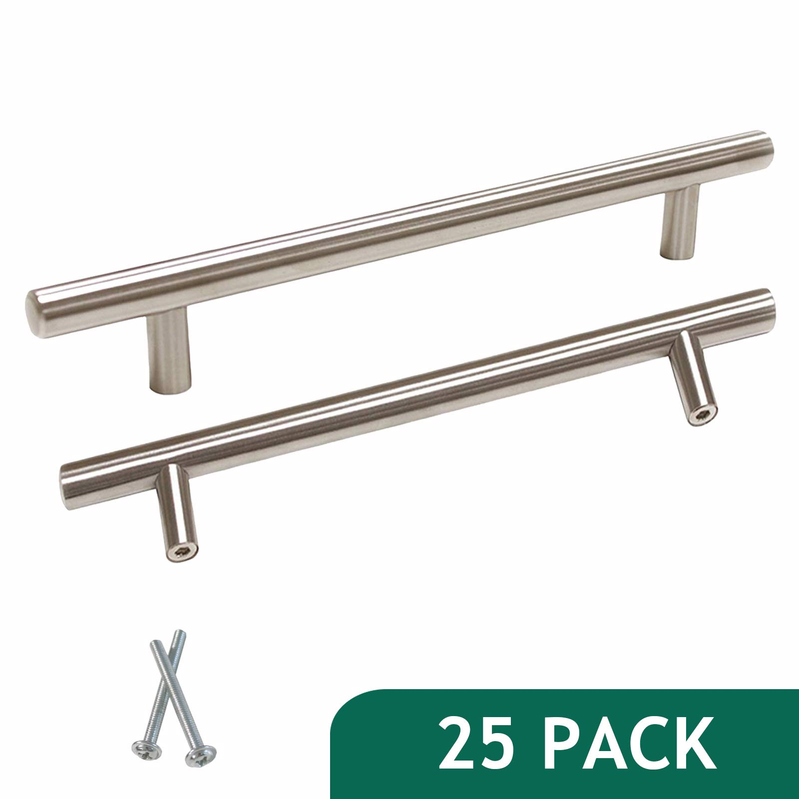 Probrico T Bar Modern Cabinet Hardware Bedroom Drawer Pulls Stainless Steel Kitchen Handles 6-1/3 inch Hole Spacing 25 Packs