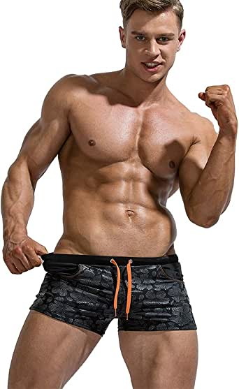 STORTO Mens Bikini Swim Trunks Shorts Casual Briefs Breathable Soft Hawaii Underwears Swimsuits