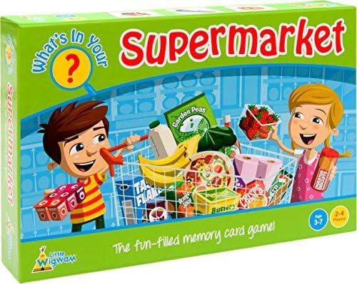 Little Wigwam - Juego de Memoria ¿Qué Hay en tu supermercado? (en inglés): Amazon.es: Bebé