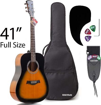 Hola. hg-41 (41 Full tamaño) Deluxe – Guitarra acústica ...