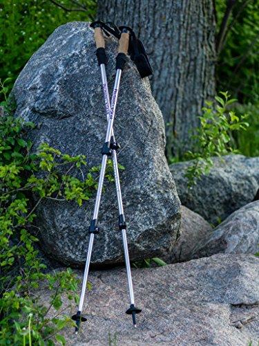 Palisade Gear Ultralight Aluminum Trekking Poles with Flip Lock quick adjust (Orange)