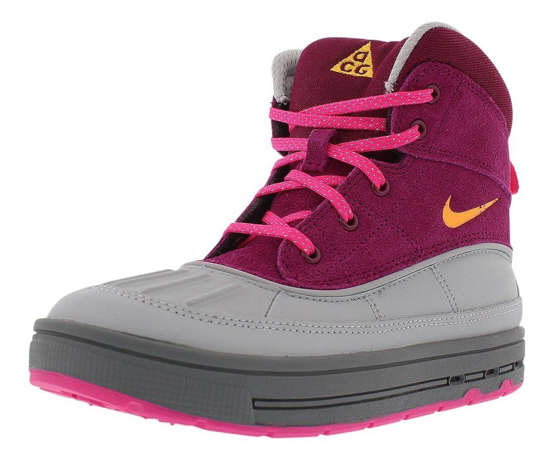 Little Kid Nike Wood Side 2 High Raspberry Red//Laser Orange-Pink Flower-Wolf