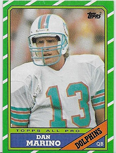 Dan Marino 1986 Topps Football Card #45 - Miami Dolphins - Stored in a Protective Plastic Display Case!!