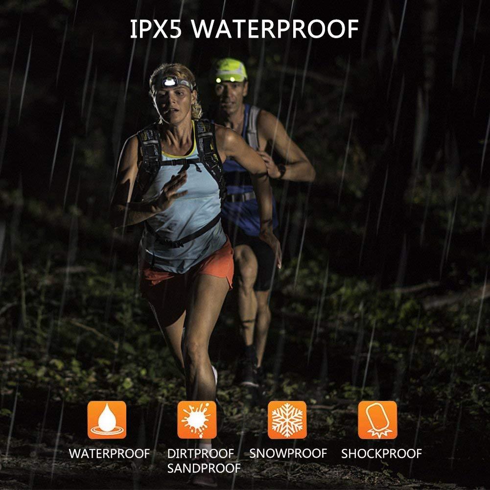 la randonn/ée les enfants et autres activit/és en plein air Winzwon Lot de 2 lampes frontales LED rechargeables par USB Id/éal pour la course /à pied la marche la lecture le camping la p/êche