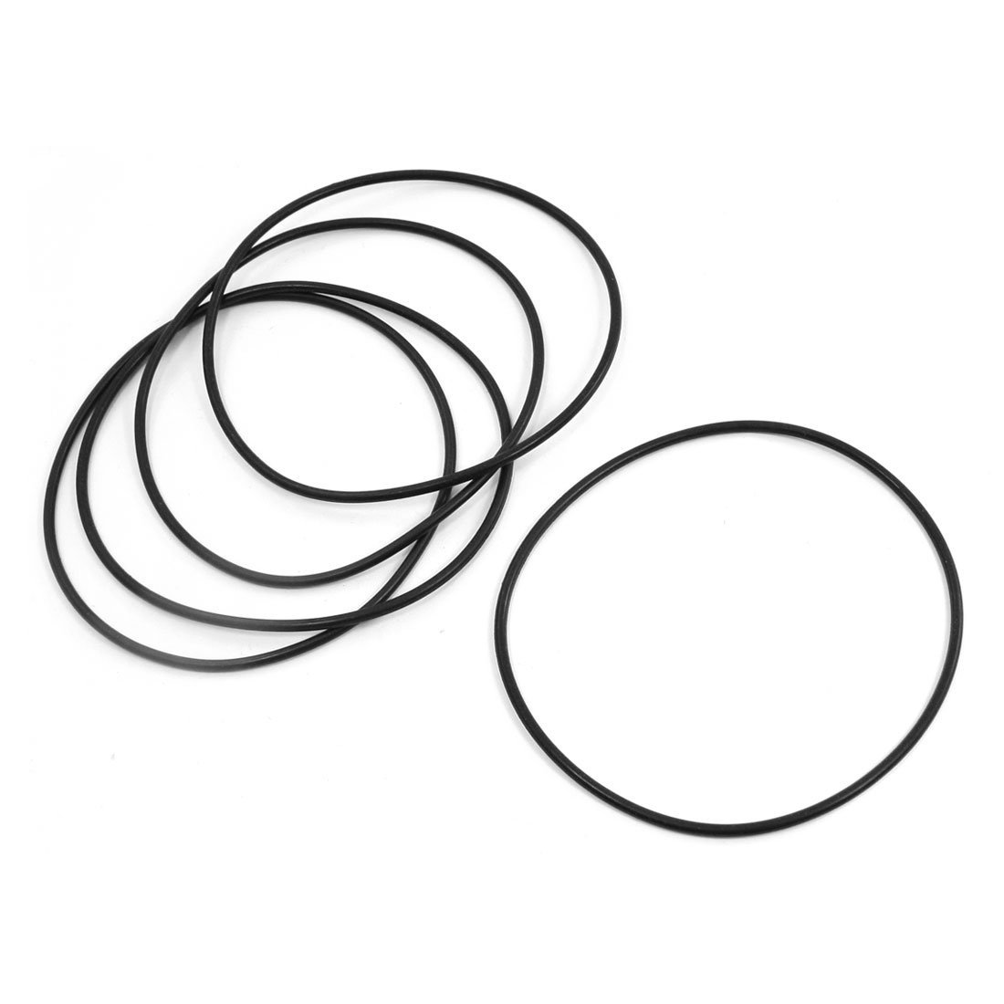 5pcs Metric 130mm OD 3.5mm Thick Industrial Rubber O Ring Seals Black Sourcingmap a14022100ux0189