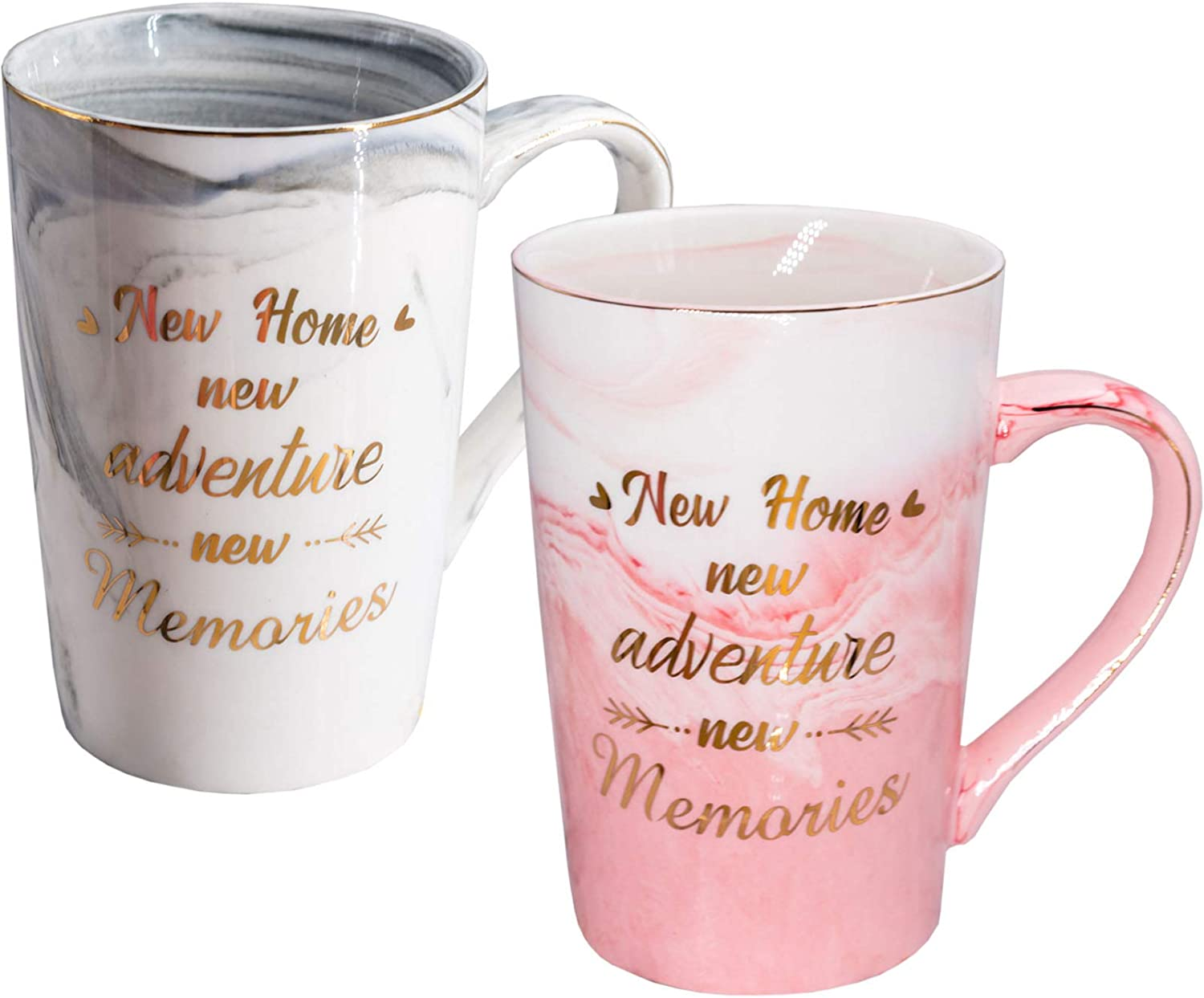 Mugpie Housewarming Gifts For New Home Owner - New House Gift Couples Coffee Mug Present for Women Men Friends Mom Dad Daughter Son Coworkers -Sweet Wedding Christmas Gifts for New Home New Adventure