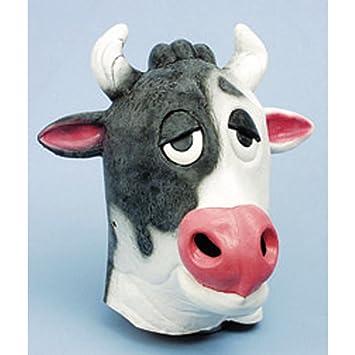 Peluche de vaca toro vacuno Kuhmaske máscara de Carnaval Disfraz equipo accesorios de vestuario