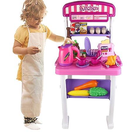Amazon.com: Roxie Kids Kitchen Playsets Toddler Kitchen Cook ...