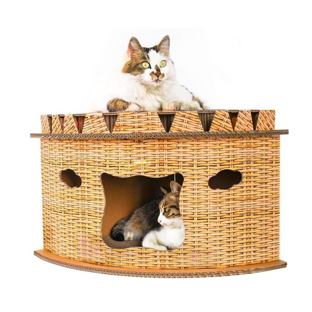 LSS Cat Scratch Board, Cat Nest, Corner Fan-shaped Cat House, Cat Claws, Creative Toy