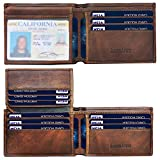 Mens Wallet, Schumarson RFID Blocking Bifold Genuine Leather Front Pocket Wallets for Men with Money Clip - Coffee