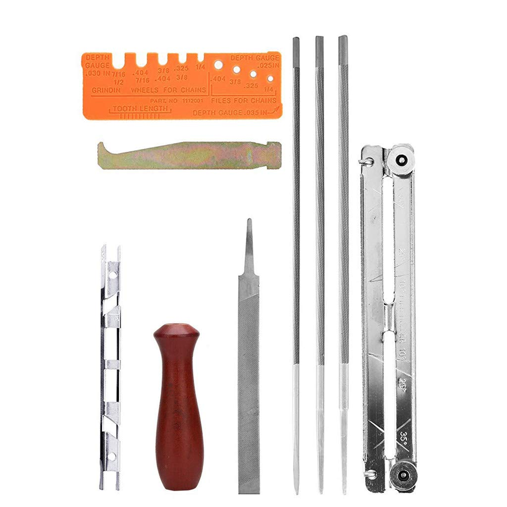 Amazon com: LIUguoo 10 Piece Chainsaw Sharpener File Kit