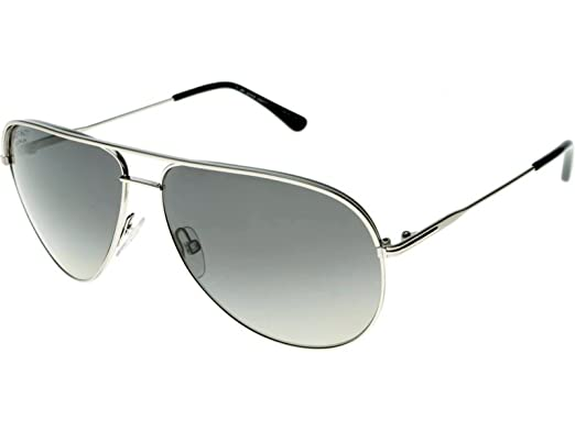 22e4189db1 Image Unavailable. Image not available for. Color  Tom Ford 17D Silver Erin Aviator  Sunglasses Polarised