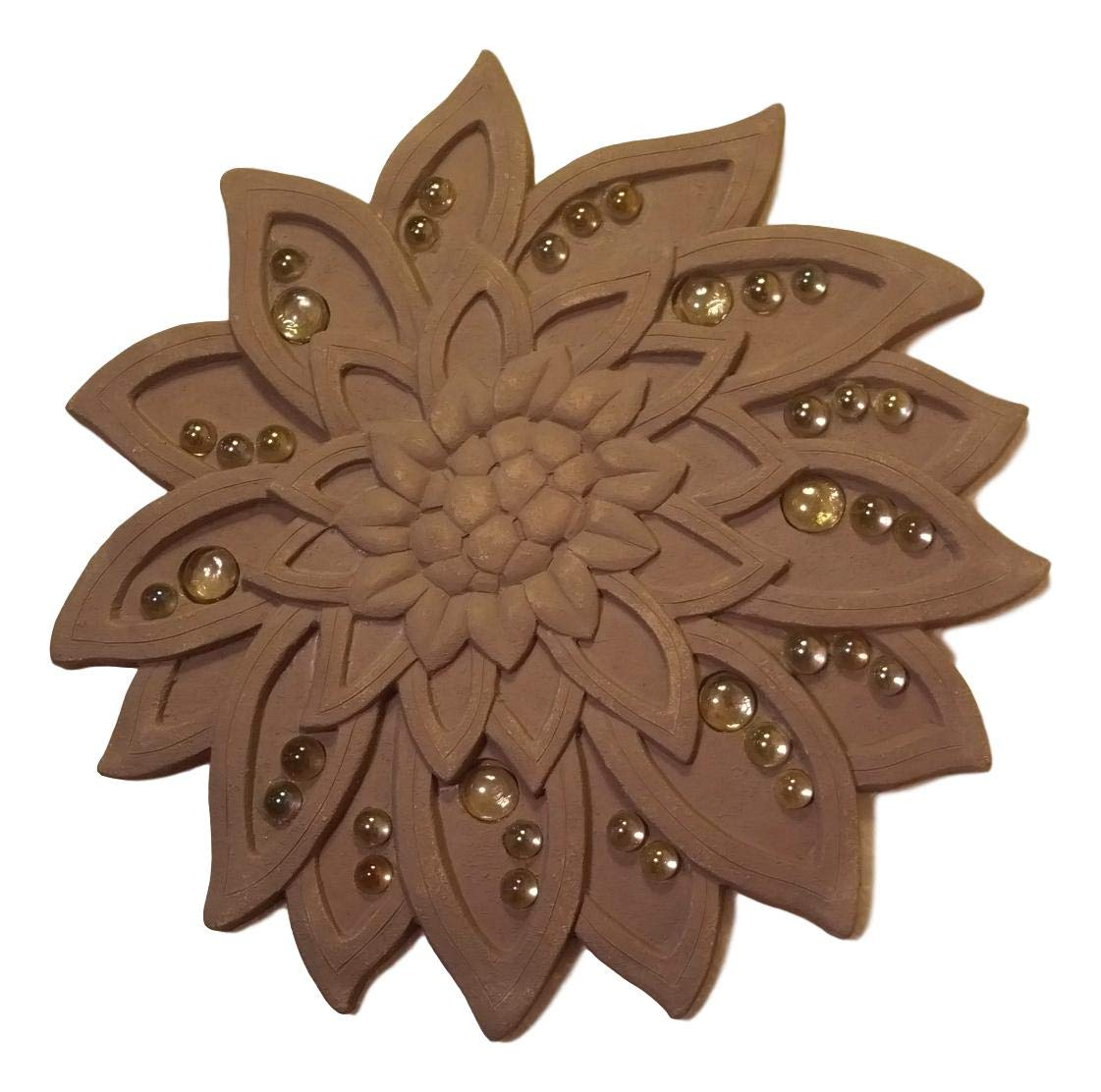 Grasslands Road Decorative Beaded Flower Stepping Stone Wall Plaque 14''