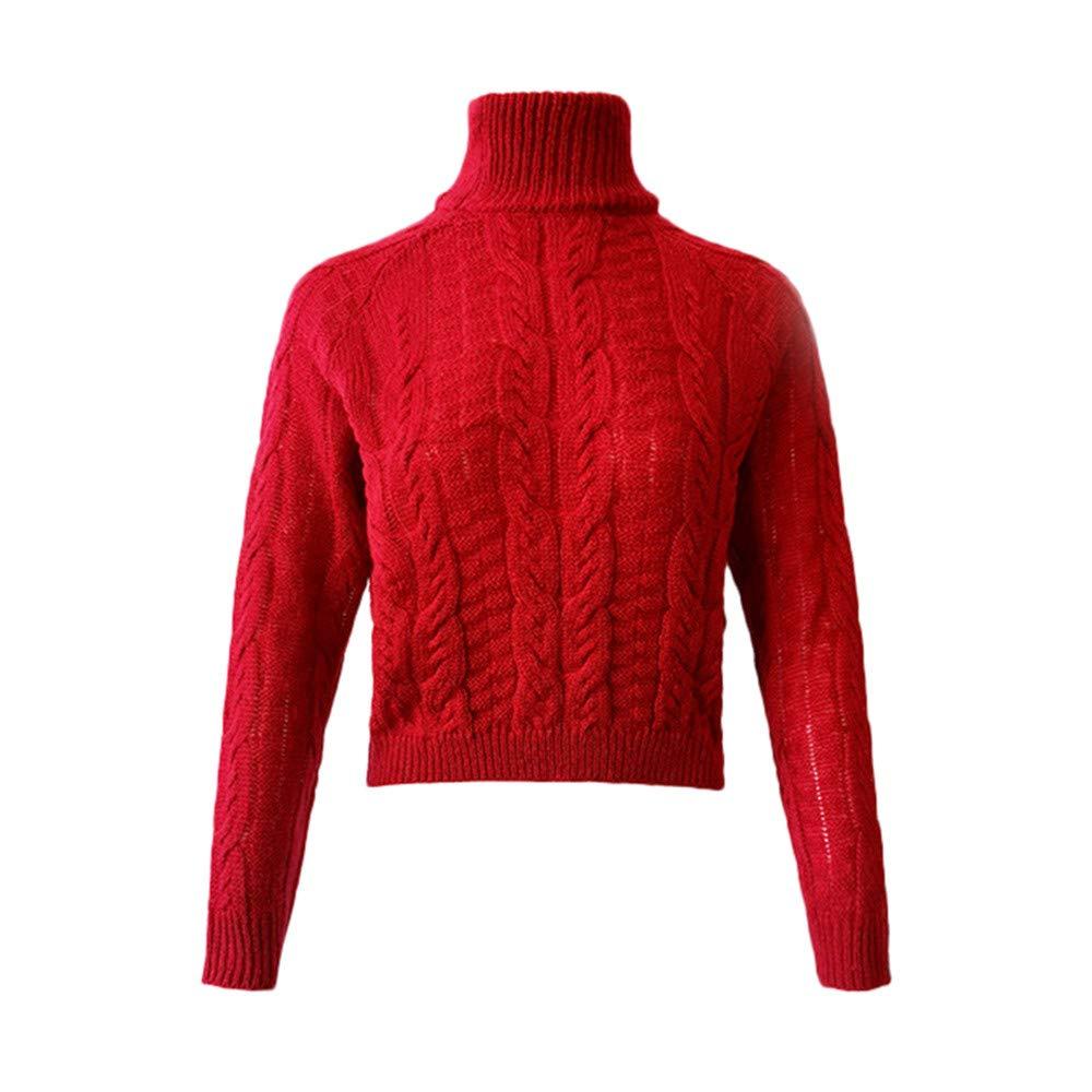 Robemon✬Chandail Robe Pull Femme Automne Hiver Col Haut La Mode ... 89dbc6ffe04f