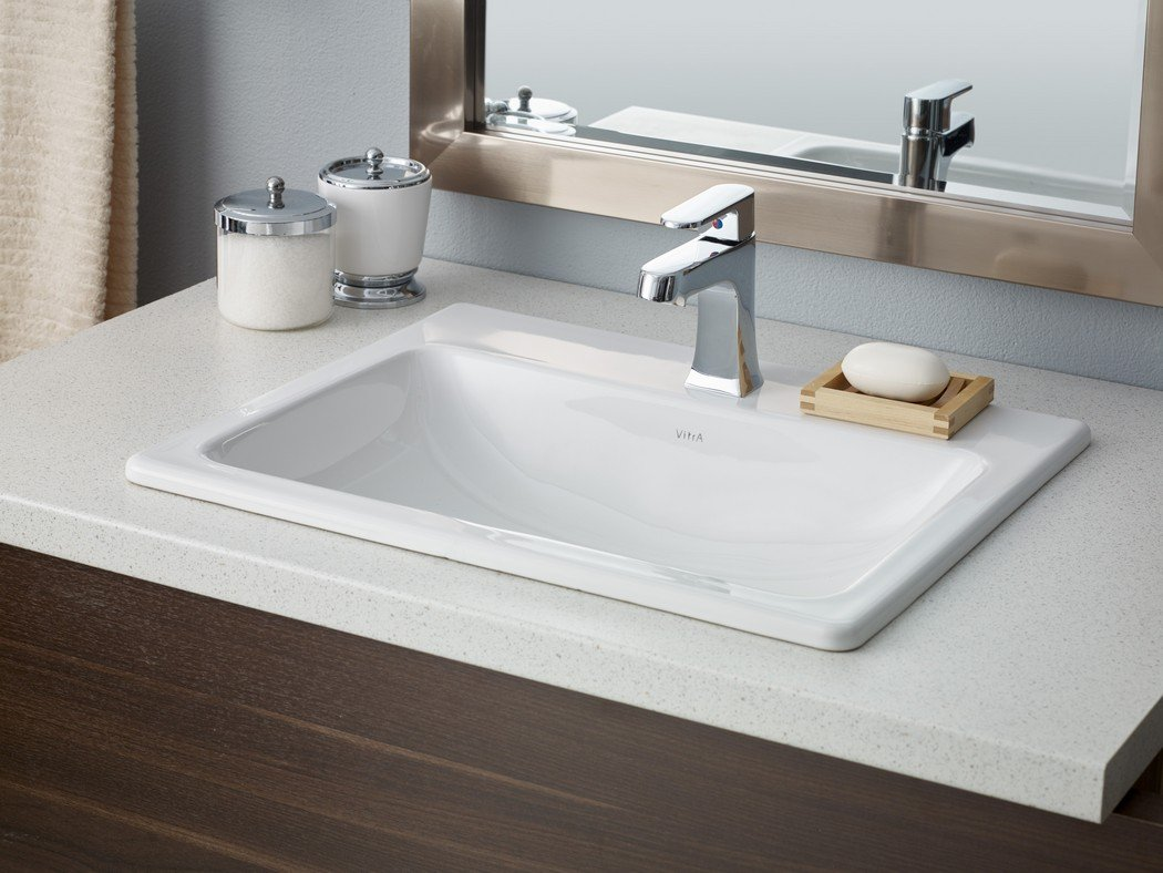 Cheviot Products Inc. 1186-WH-1 Manhattan Drop In Basin, 19 3/4 x 17 3/4, White 19 3/4 x 17 3/4