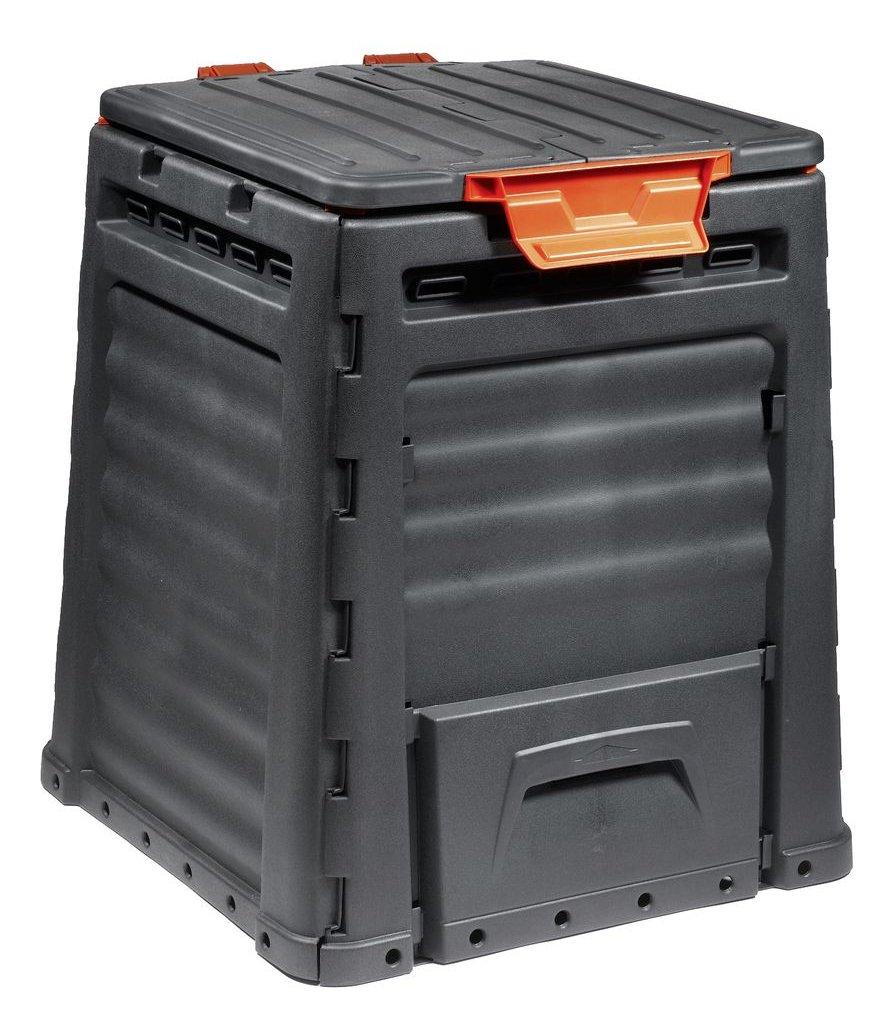 volume 320 litres outdoor Anthracite ST tas jardinage professionnel seau silo de compostage r/ésistant aux intemp/éries jardin Jardinion composteur
