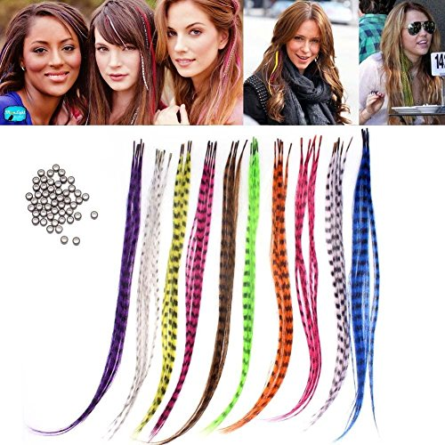 Professional Salon Feather Hair Extension Multi Color